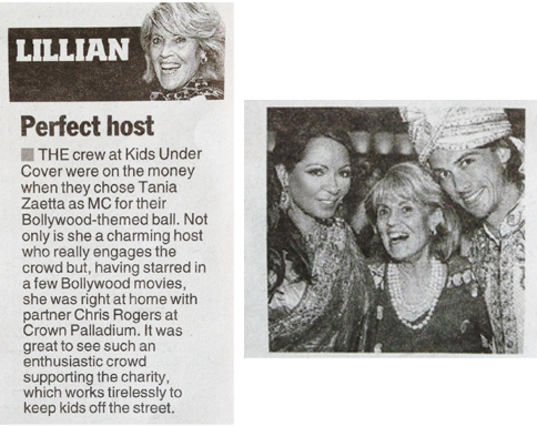 Tania Zaetta - Mc Bollywood Nights Ball - Herald Sun Weekend Confidential