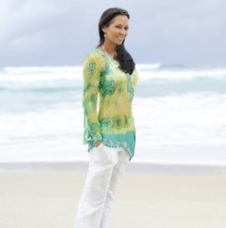 Green Kaftan Beach cropped