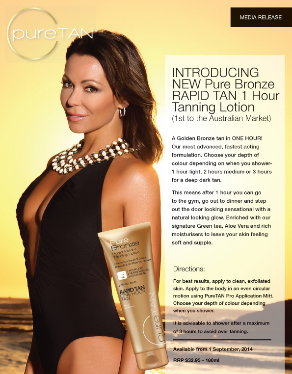 Tania Zaetta - Puretan New One Hour Rapid Tan