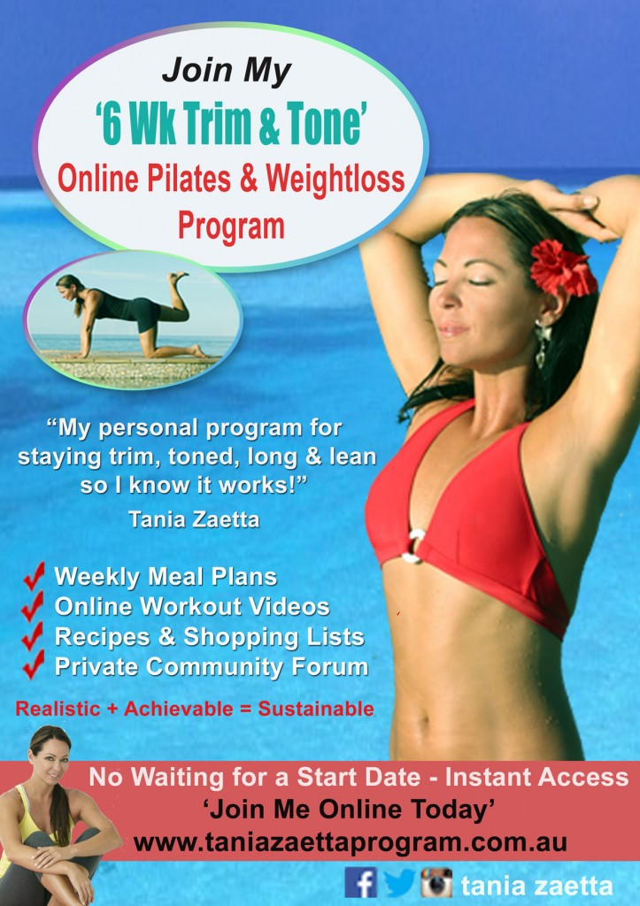 Tania Zaetta - Online Pilates & Weightloss Program