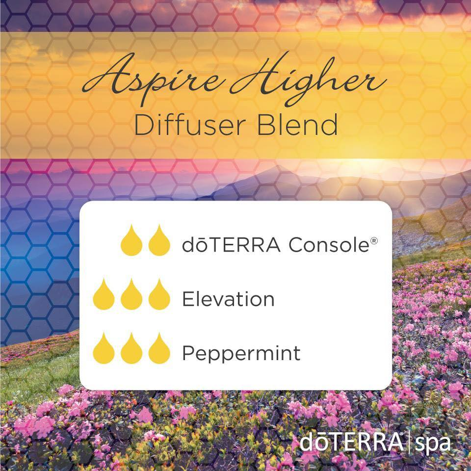 DIFFUSER BLEND - Aspire Higher, Essential oil, Console, Elevation, Peppermint, Mood enhancer, balance, stress. anxiety, doTERRA
