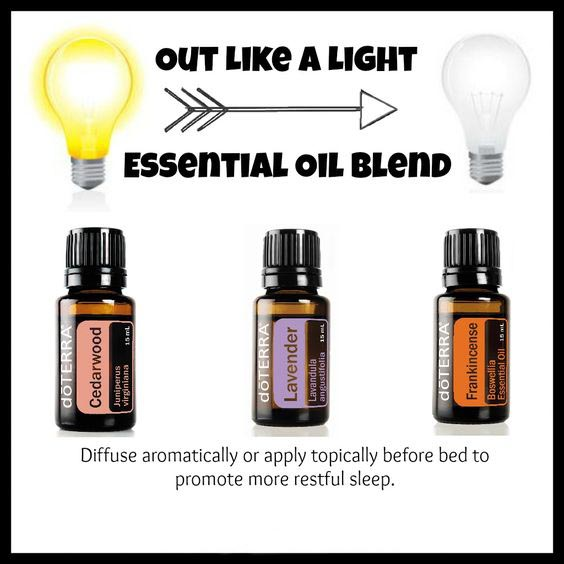 Diffuser Blend - Out like a light - Cedarwood, Lavender, Frankinsence Essentials Oils doTERRA deep sleep
