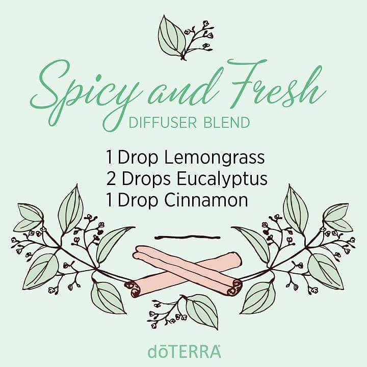 doTERRA essential oil diffuser-blend-spicy-fresh-lemongrass-eucalyptus-cinnamon