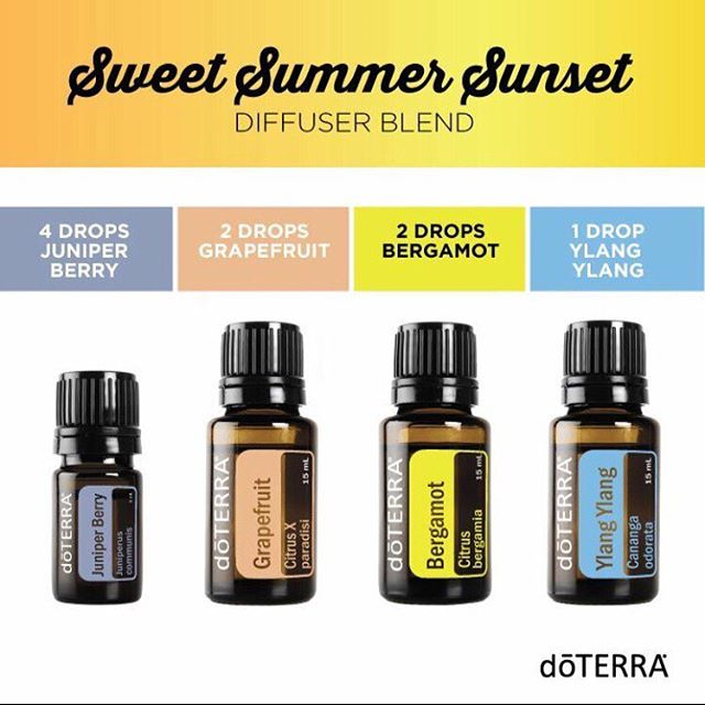 Diffuser Blends, Essential Oils, Romantic, Ylang Ylang, Bergamot, Grapefruit, Juniper Berry, doTERRA