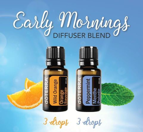 early-morning-essential oil diffuser-blend-wild-orange-peppermint