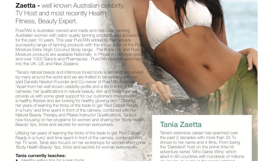'Puretan' Announces Tania Zaetta as Brand Ambassador