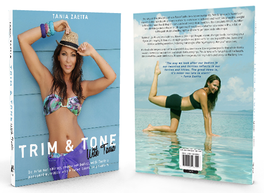 Trim & Tone with Tania - Book Front & Back image