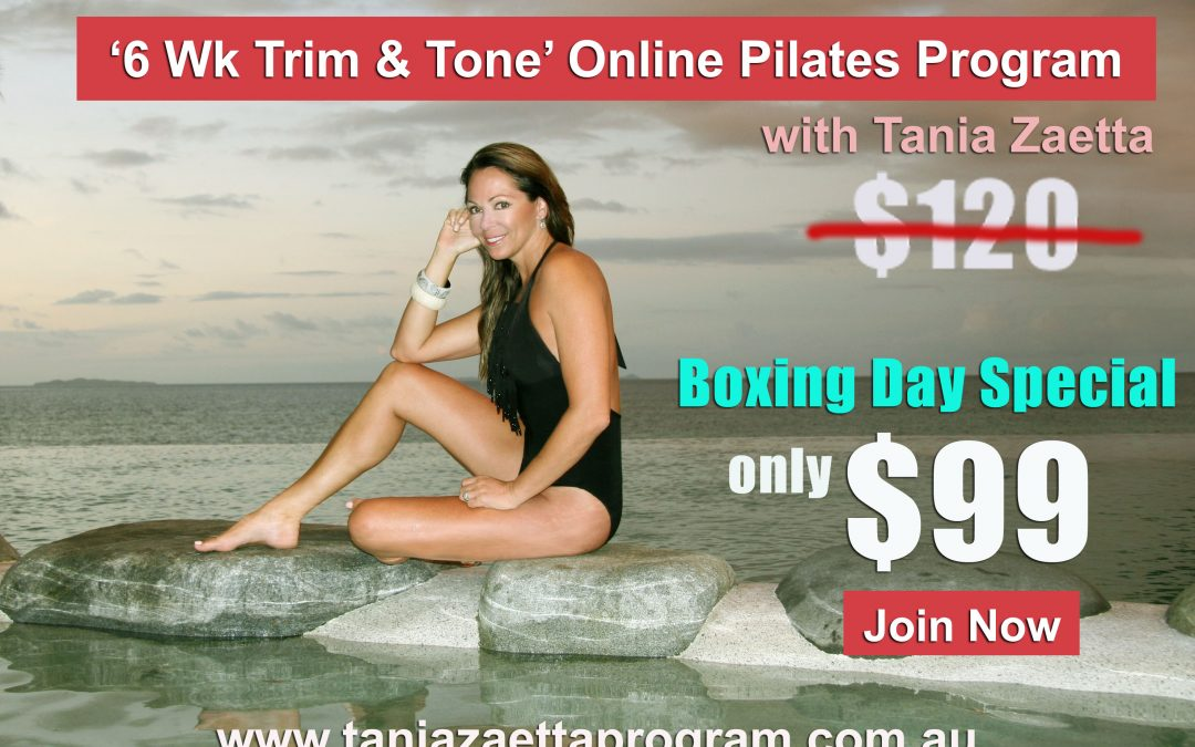'6 Wk Trim & Tone' Online Pilates Program – BOXING DAY SPECIAL