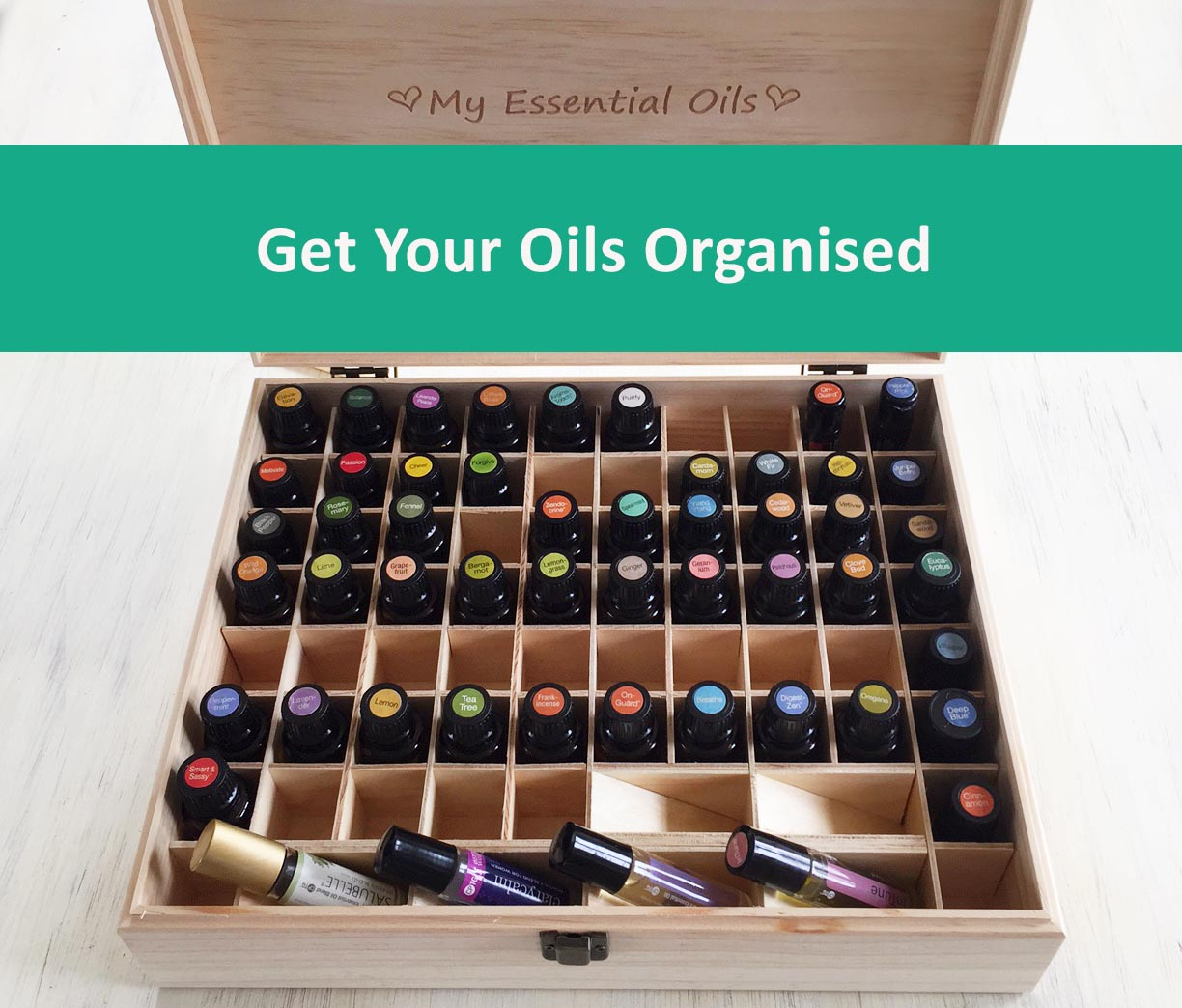 Essential Oil Wooden Display Box by Tania Zaetta get organised doTERRA