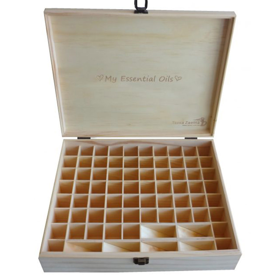 Mt essential oils wooden box