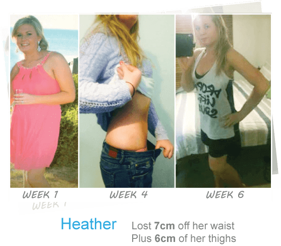 Heather's 6 week trim and tone results