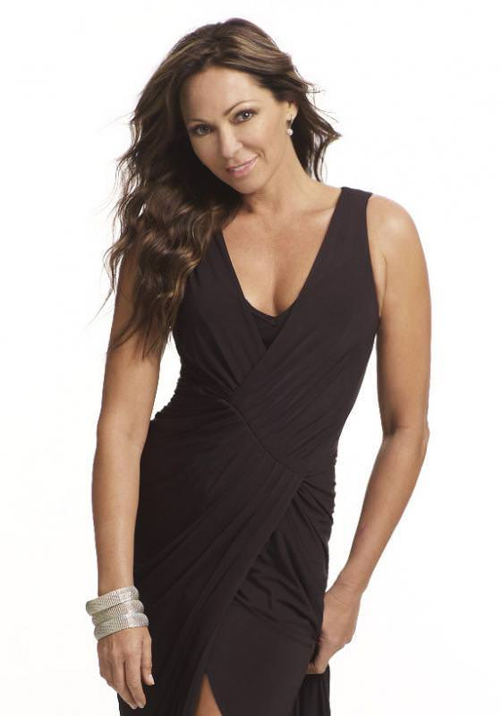 Tania Zaetta in black dress